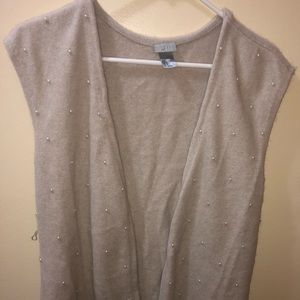 H&M Vest Women's Sleeveless with Faux Pearls S